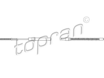 Žica ručne kočnice Volkswagen Vento 91-98, natrag