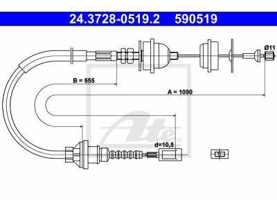 Žica sklopke Peugeot Boxer 94-02